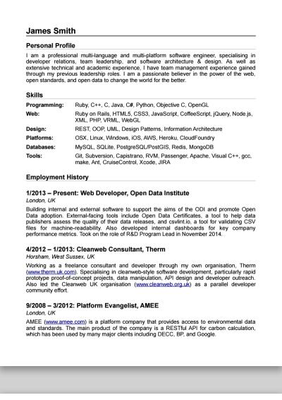 James Smith's CV, Horsham, MP candidate, Something New  - Democracy Club CVs