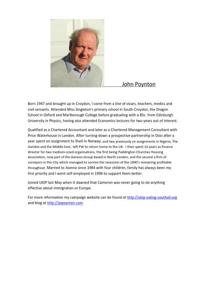 Thumbnail of CV for John Poynton